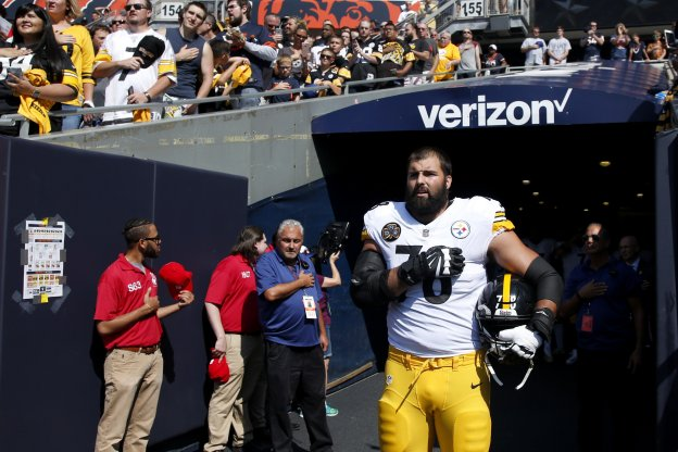 Villanueva, el domingo en el Solder Field de Chicago. :: afp/