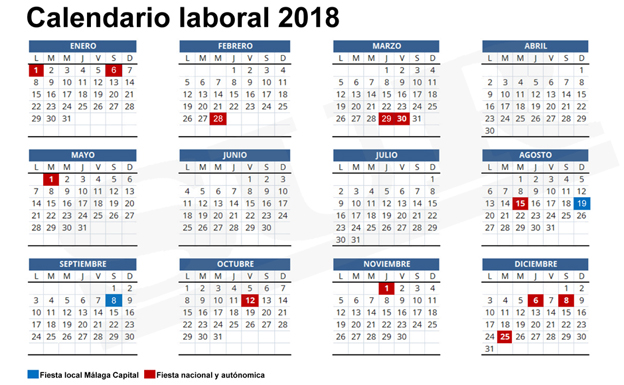 Calendario Laboral Construccion 2020.Calendario Laboral Sevilla