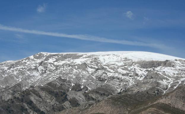 La cima de La Maroma, nevada/E. C.