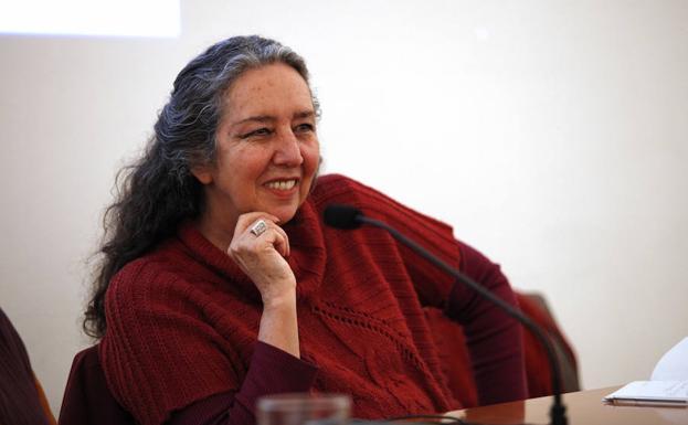 Marcela Lagarde, ayer en el CAC en una conferencia. /M. Fernández
