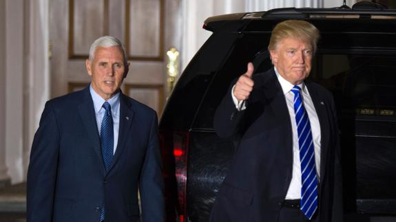 Mike Pence y Donald Trump./