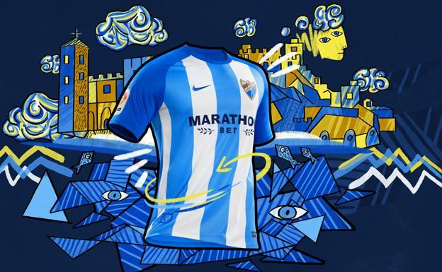 El Málaga presenta una camiseta ya exclusiva y que apuesta por el azul 9786f82e95634