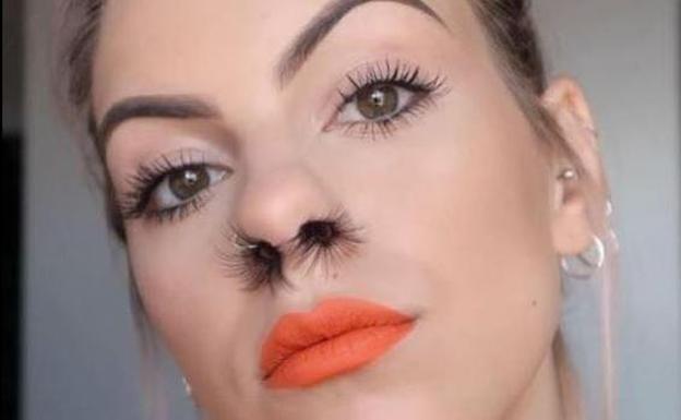 Cortar pelos nariz mujer