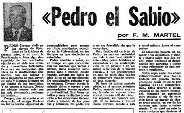 Pedro el Sabio, el vecino de Ojén que \'hablaba\' con ...