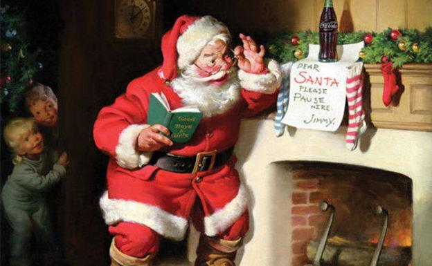 375ab12167136 Papá Noel no viste de rojo y blanco por la Coca-Cola