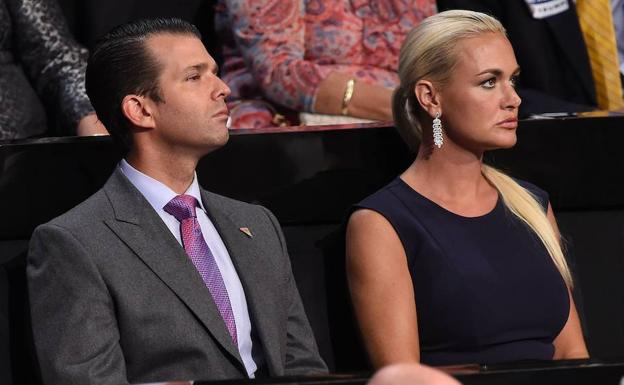 Vanessa (d) y Donald Trump Jr./Robyn Beck (Afp)
