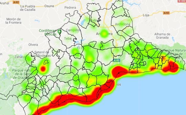 Mapa Del Alquiler De Viviendas Turisticas En Malaga Diario Sur