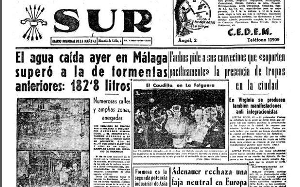 Calendario Del Ano 1957.27 De Septiembre De 1957 Asi Fue El Dia Mas Lluvioso De La