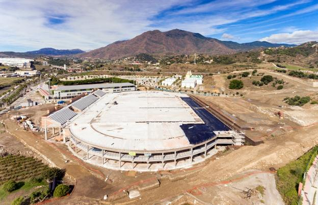 Vista actual de las obras del estadio./SUR