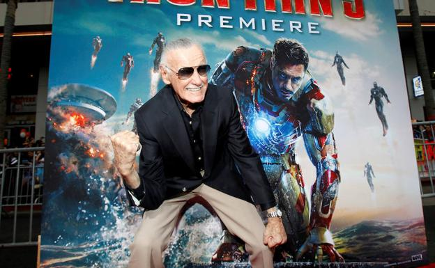 Stan Lee, durante la premiere de 'Iron Man 3'.