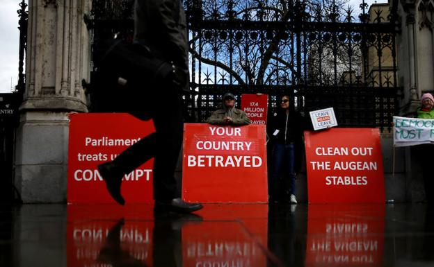Protesta a favor del 'brexit' en Londres./Reuters
