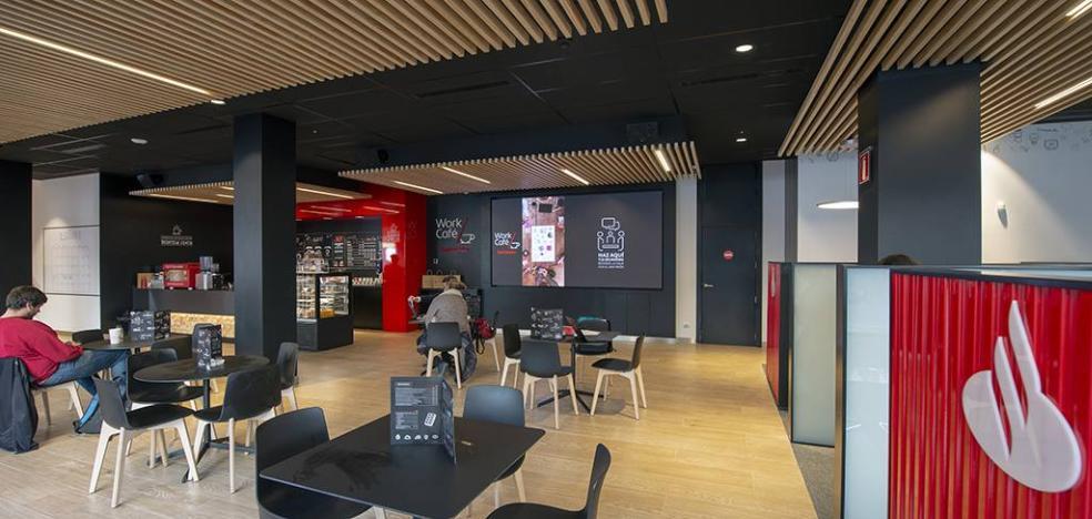 El Banco Santander estrena en Málaga una oficina con centro de coworking y cafetería 2