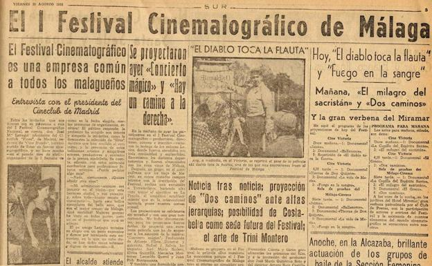 Page published in SUR about the contest in August 1953.