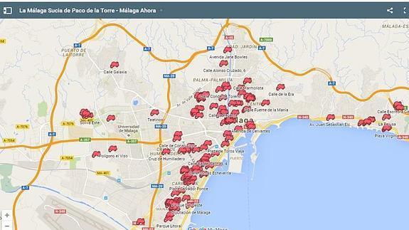 Mapa De Malaga Capital Por Barrios.Malaga Ahora Elabora El Mapa De La Malaga Sucia De Paco De