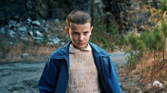Millie Bobby Brown como Once en 'Stranger Things'./