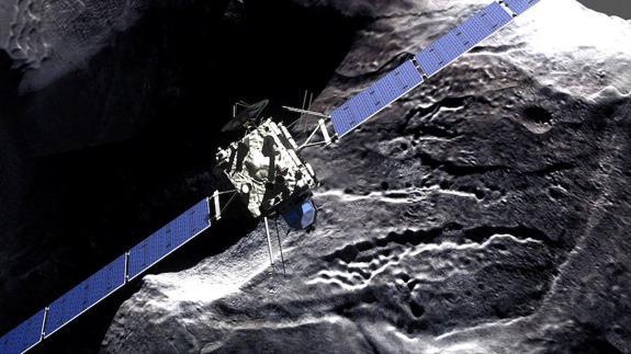 Resultado de imagen de Rosetta intercepta el cometa